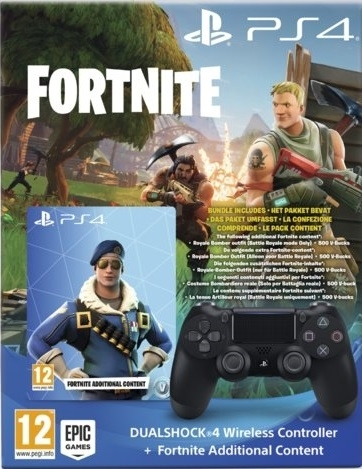 Pad Sony Dualshock 4 V2 Czarny / Black +  Fortnite Voucher (PS4)